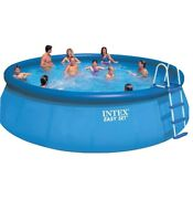 New Intex 18ft X 48in Easy Set Pool Set W/ Pump Filter Cover