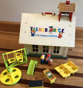 Vintage Fisher Price Little People Play Family School 923 House Bell