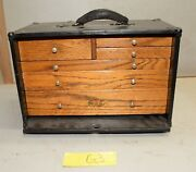 Antique Star Oak Metal 6 Drawer Machinist Chest Collectible Jewelers Tool Box G3