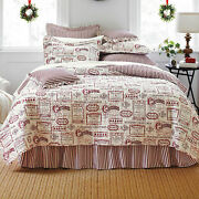 Brylanehome Vintage Christmas 4 Piece Quilt Set