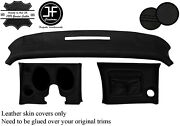 Black Stitch Dash Dashboard Kit Real Leather Covers Fits Corvette C3 1970-1976
