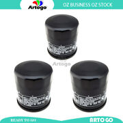 3pcs Engine Oil Filter Fit Kawasakizg1400 Concours Abs Gtr1400 2008-2017 2018
