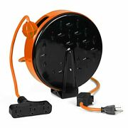 Thonapa 30 Ft Retractable Extension Cord Reel Breaker Switch 3 Electrical Power