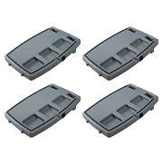 Stupid Car Tray Multifunction Food And Drink Travel Organizer, Gray/black 4 Pack