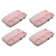 Stupid Car Tray Multi Function Food And Drink Car Organizer, Pink/mint 4 Pack