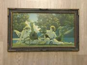 Maxfield Parrish And039the Lute Playerand039 House Of Art N. Y. Print Vintage Frame