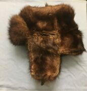 Sable Fur Hat, Russian Ushanka, Made In Ussr, Mint Condition