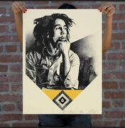 Catch A Fire Gold Obey Giant Signed And Numbered - Bob Marley /200 - Confirmed