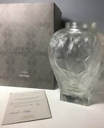 Rare Limited Edition 1995 Hommage To Rene Lalique Vase Coa And Original Box