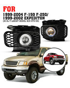 For 99-03 Ford F-150/expedition 04 F150 Heritage Fog Lights Clear Halo Projector