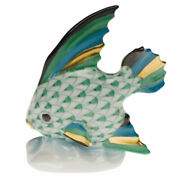 New Herend Green Fish Table Ornament Authorized Dealer