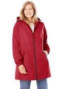 Woman Within Womenand039s Plus Size Hooded Slicker Raincoat