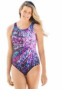 Swimsuits For All Women's Plus Size High-neck One Piece Swimsuit