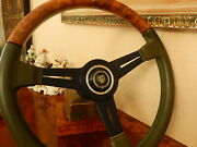 Jaguar Xjs 1976 - 85 Steering Wheel Wood Leather Original Xjs Nardi Model N.o.s