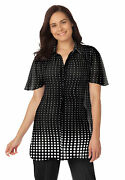 Woman Within Women's Plus Size Blouse In Crinkle Georgette Shirt
