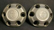 2005-2014 Toyota Tacoma 16 6 Lug Center Hub Cap Pair 42603-ad050 Used