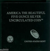 Us Mint Box And Coa For 2016-p Shawnee Np 5 Oz. Atb Specimen Silver No Coins