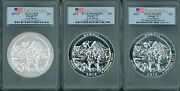 3 Coins 2012 And 2012-p Denali Atb 5 Oz Silver Pcgs Sp69 And Ms69-pl And Ms69-dmpl Fs