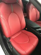 2018-2021 Toyota Camry Le / Se Katzkin Red Leather Seat Replacement Covers