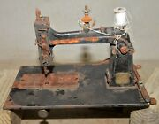 Rare Antique Wilson Cast Iron Sewing Machine Treadle Collectible 1870and039s Tool