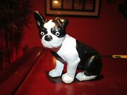Boston Terrier Bulldog Cast Iron Bookend Doorstop Paperweight French Heavy Paint