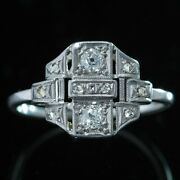 Antique Art Deco Diamond You And Me Chic Ring