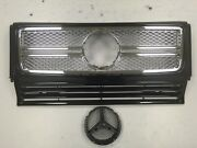 Front Grille Assembly For And0391990-and0392013 Mercedes Benz W463 G-class G65 Look Black
