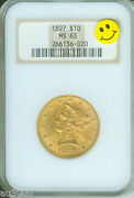 1897 10 Gold Liberty Eagle Ngc Ms63 Ms-63 Old Thick Holder Pq +