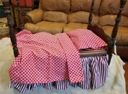 Antique Four 4 Poster Bed Salesman Sample From Uk With Handcrafted Bedding