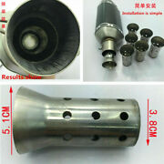 51mm Stainless Steel Motorcycle Exhaust Muffler Db Killer Silencer Adapter 1pc