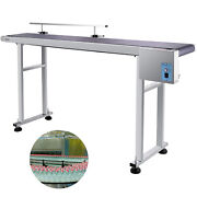 59and039and039x 7.8and039and039 Pvc Belt Conveyor Machine With Stainless Steel Single Guardrail