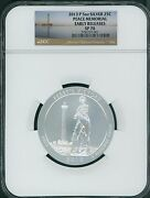 2013-p Perry's Victory Peace Memorial Atb 5 Oz Silver Ngc Sp70 Early Releases Er