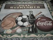 Coca-cola.play Refreshed.sports.soccer.golf.pool.ball.woven Afghan/throw/blanket