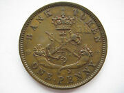 Canada Bank Of Upper Canada 1850 With Dot Penny Gvf Pc-6a2
