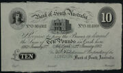 Bank Of South Australia Adelaide 1882 10 Pounds Unissued Specimen Note Mvr 3a