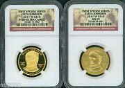 2011-w 10 Gold Spouse Eliza Johnson Ngc Pr69 Pf69 And Ms69 2-coins Set