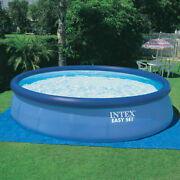 Intex 26175eh 18and039 X 48 Inflatable Round Outdoor Above Ground Swimming Pool Set