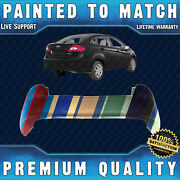 New Painted To Match - Rear Bumper Cover Fascia For 2011-2013 Ford Fiesta Sedan