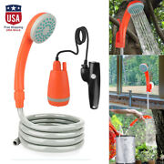Portable Camping Shower Compact Pump Handheld Outdoor Camping Hiking Traveling