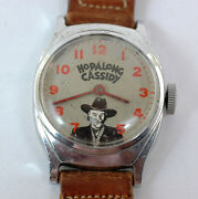 Character Watch Hopalong Cassidy Manual Wind Working Original Srtrap And Buckle