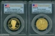 2012-w 10 Gold Spouse Frances Cleveland 2nd Pcgs Pr69 Pf69 And Ms69 2-coin Set Fs