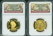 2008-w 10 Gold Spouse Louisa Adams Ngc Pr69 Pf69 And Ms69 2-coins Set