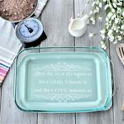 Casserole Dish- Bless This Food Before Us Casserole Dish