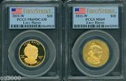 2011-w 10 Gold Spouse Lucy Hayes Pcgs Pr69 Pf69 Ms69 2-coin Set First Strike Fs