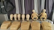 Cpr Manikin Lot Adult Torso And Infant Baby Child Body Bag Papers + Extras Set