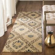 Long Runner Transitional Traditional Hand Hooked Wool Area Rug Free Shipping