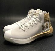 Under Armour Steph Curry 3zer0 White Gold Basketball Shoes Rare Art 1303013-106