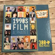 New Buffalo Games And Puzzles 300 Piece 1990s Film Alphabet Puzzle - Large Pieces