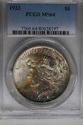 1923 1 Pcgs Ms64 Peace Dollar 1900and039s Silver Dollar 1