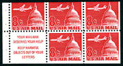 Us Air Mail Stamp-mint Ogandnh, F/vf Sc64b Booklet Pane Of 5, Slogan I, Your Mail